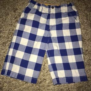 Mini Boden Size 11Y Plaid Shorts